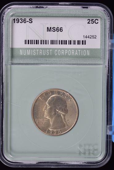1936-S Washington Quarter NTC MS66 Scarce This NICE