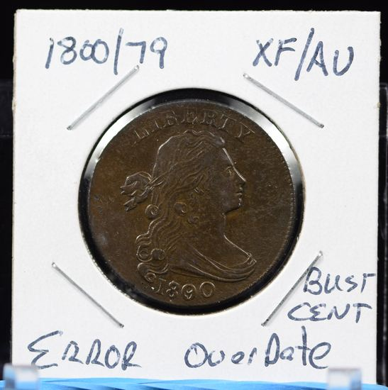1800/79 Large Cent ERROR XF/AU