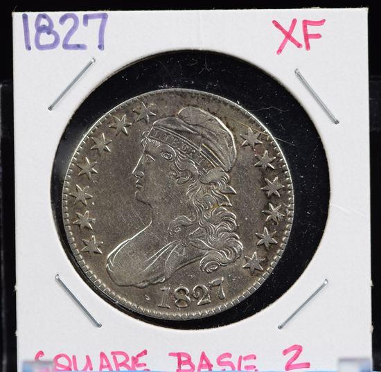 1827 Bust Half Dollar XF SQ Base 2