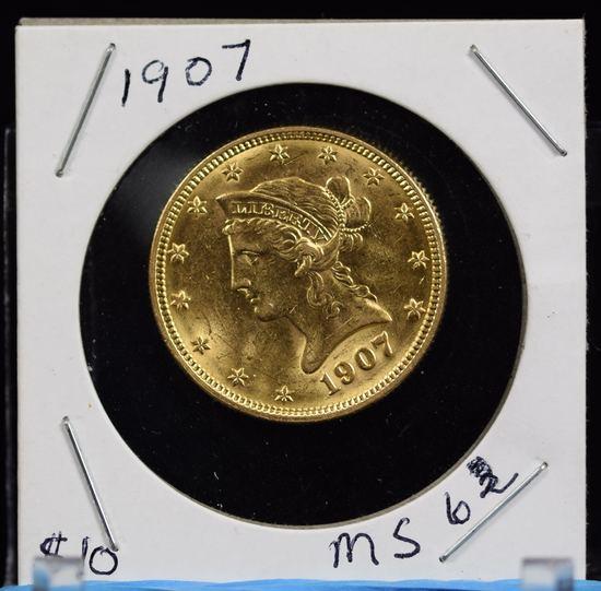 1907 $10 Gold Liberty MS63