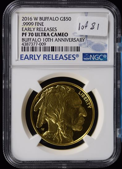 2016 Gold Buffalo Early Release 10th Anniversary PF 70 UC