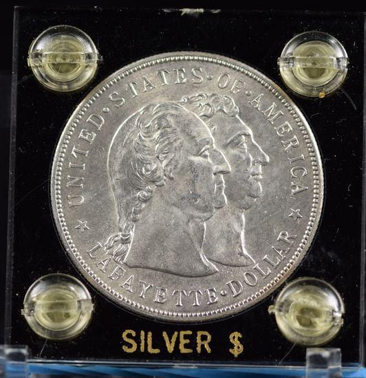 1900 Lafayette Commen Dollar Silver UNC