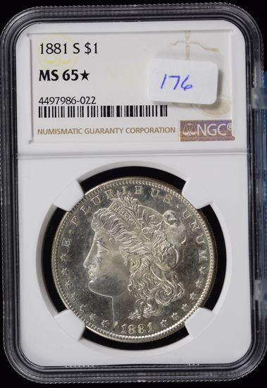 1881-S Morgan Dollar NGC MS-65 Star