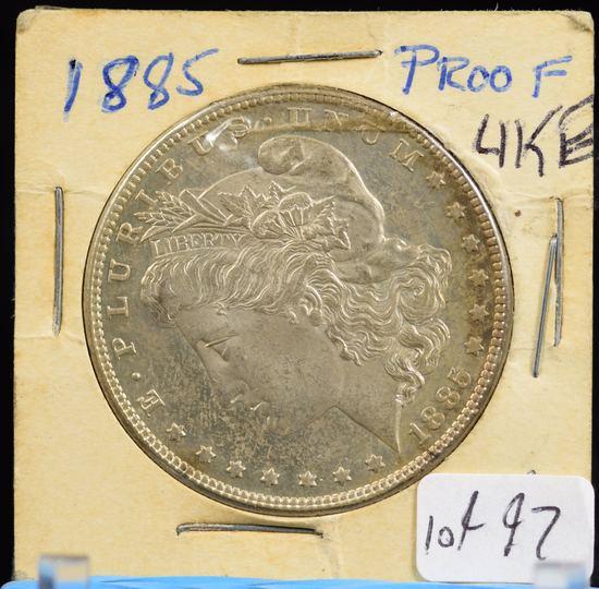 1885 Morgan Dollar UN Proof Like