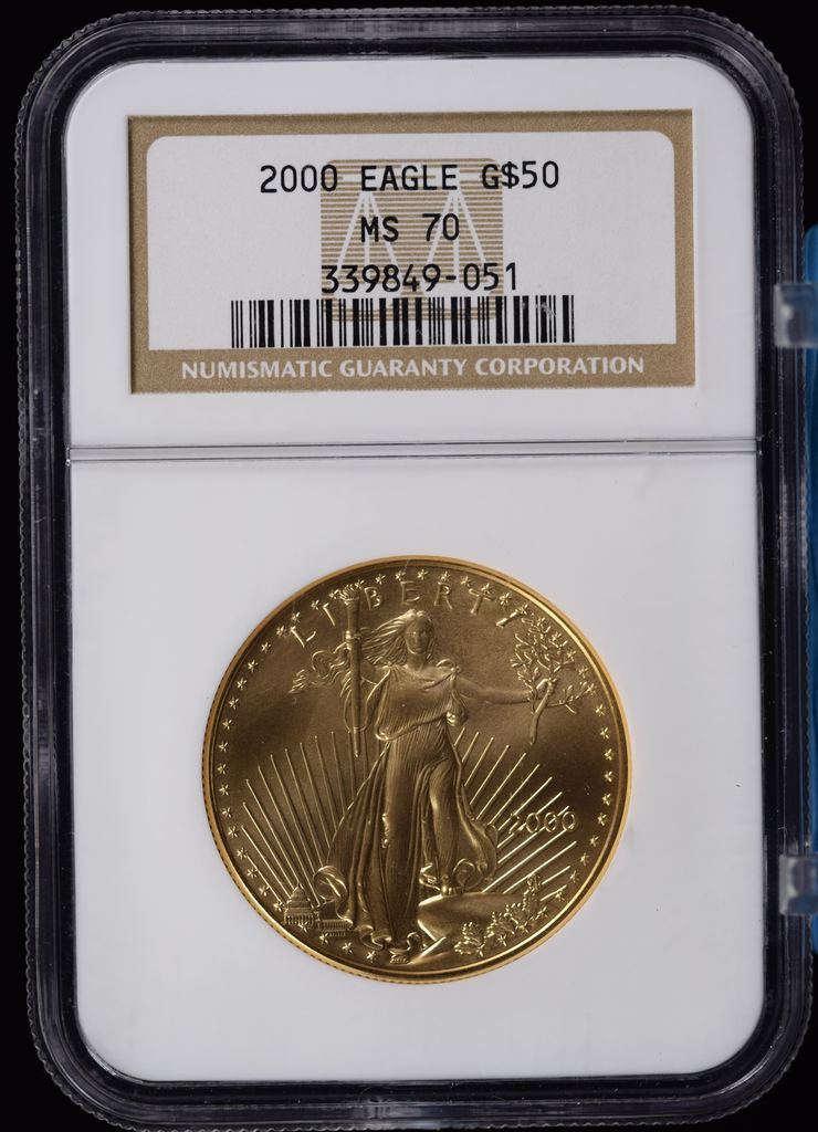 2000 $50 Gold Eagle NGC MS-70