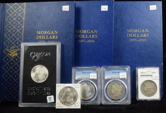 Complete Set of Morgan Dollars Few Graded