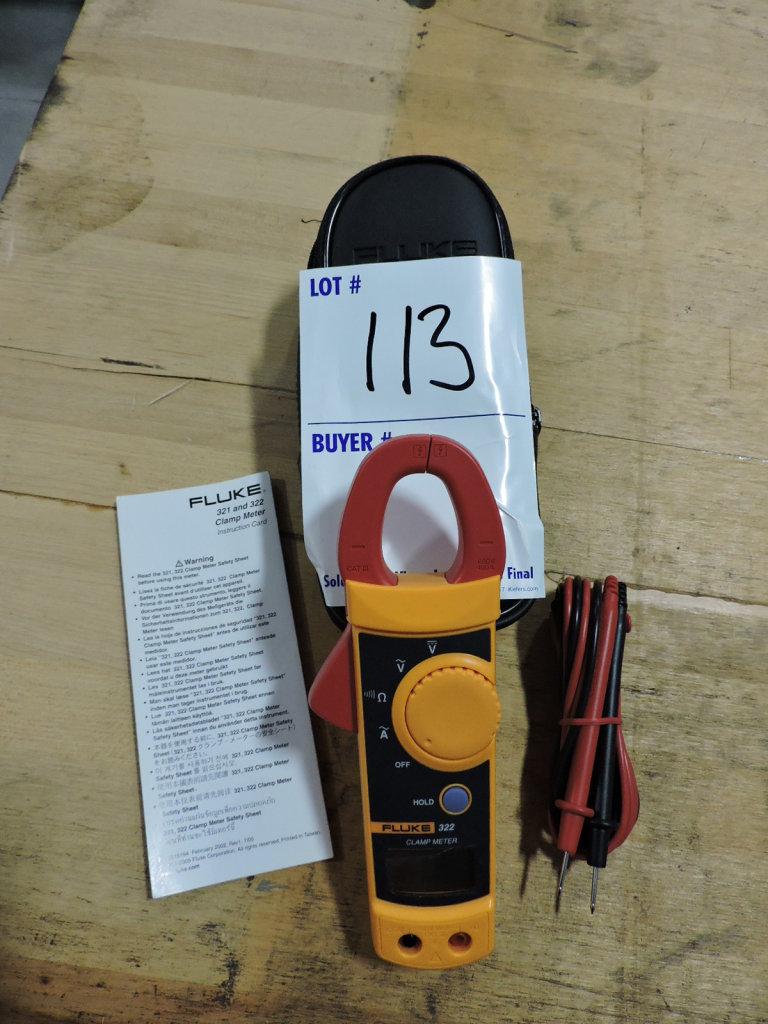 FLUKE Model 322 Clamp Meter with Case & Manual - Brand New