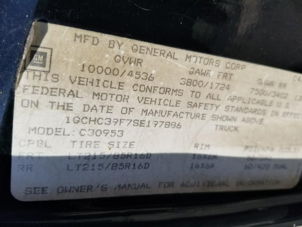 Lot: 1995 Chevrolet C3500 Diesel Dually Pickup - Black, Clean