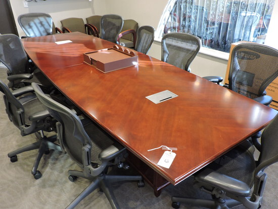 """Board Room / Conference Room Table  12' X 4' X 30"""" Tall -- Good Condition"""
