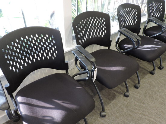 Lot of 4 Rolling Office Chairs