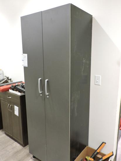 "Tall Modern Utility Cabinet  27 Wide X 19"" Deep X 75"" Tall"