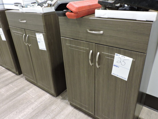 """Pair of Low Utility Cabinets  23.5"""" W X 16.5"""" D X 34"""" Tall"""
