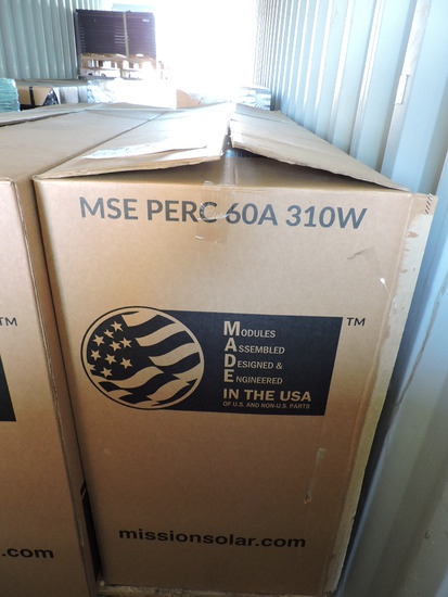 Solar Panels - Lot of 13 - Mission Solar MSE60A310 - 310 Watts Per
