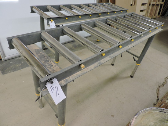 5.5 foot Rolling Conveyor Table - Adjustable Height