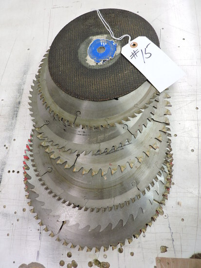 Lot of Commercial-Grade Circular Saw Blades. Size varies, approx. 11