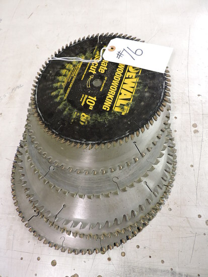Lot of Commercial-Grade Circular Saw Blades. Size varies, approx. 10