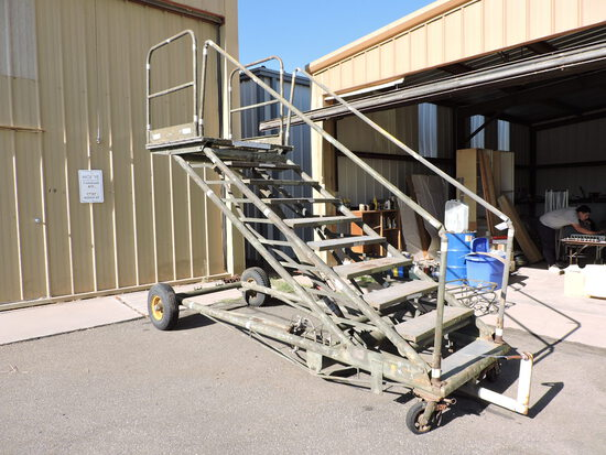Military B-1 Aircraft Maintenance Stand - from Edwards Airforce Base - Fully Functional