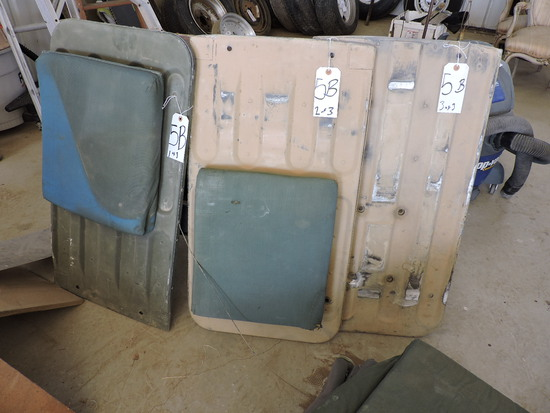 HUMVEE Seat Backs - Steel Plate and Cusion - PAIR (2) with Cushions - one spare plate