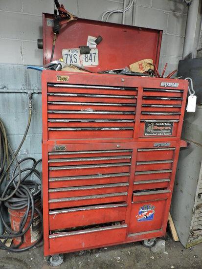 """Red WATERLOO TRAXX-Series Mechanics Tool Box -- 41"""" Wide X 61"""" Tall X 18.5"""" Deep"""