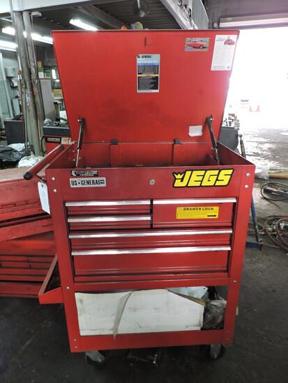 "Red US General Pro -- Tool Box / Rolling Cart -- 36"" Wide X 42"" Tall X 19.5 Deep"