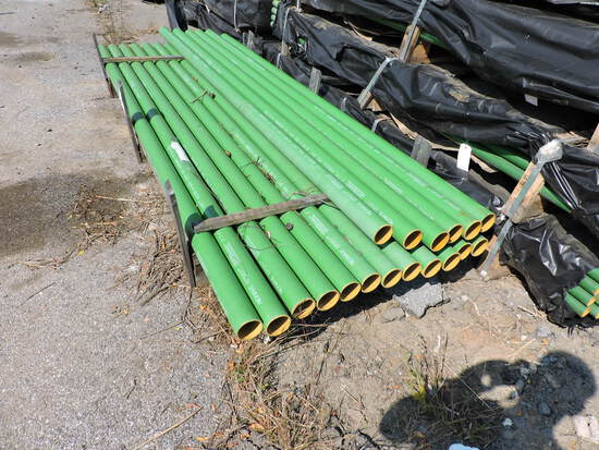 "Cast iron HUBLESS Pipe - 10 Ft Length - 3"" Diameter -- 18 Pieces"