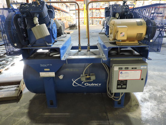 Quincy QT-15 Commercial Air Compressor -- 880 HRS and 808 HRS