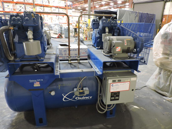Quincy QT-15 Commercial Air Compressor -- 742 HRS and 3222 HRS