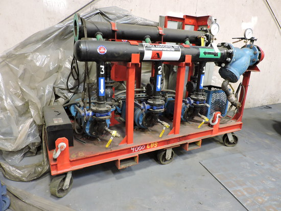 Custom Built Pump Skid for Flushing Piping Systems -- See Photos