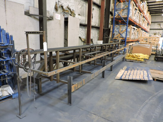 BOGO Industrial Pipe Cutting Table - 23.5' Long - See Photos