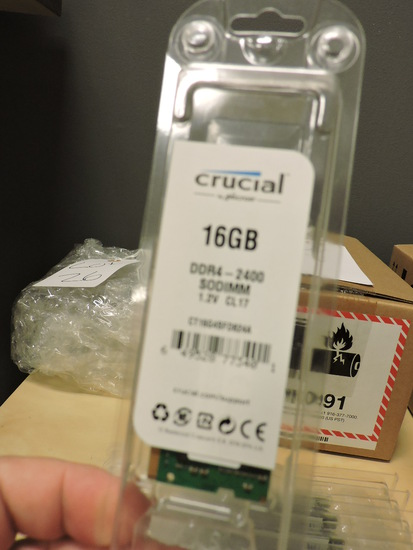 CRUCIAL Brand 16 Gig. Single DDR4 2400 MT/s RAM -- Lot of 11 - NEW