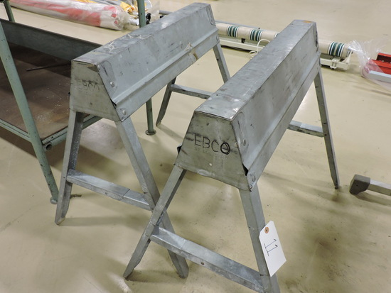 Pair of EBCO Aluminum Folding Saw Horses in Good Condition