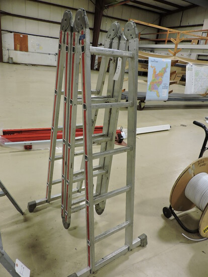 HYMER Brand Multi-Position Folding Ladder - Aluminum Construction