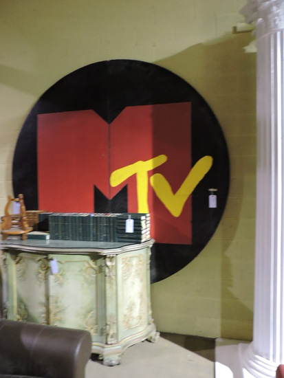 "Large MTV Logo Art for Wall - 3D - Approx. 114"" Tall x 96"" Wide"