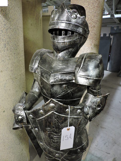 Faux SUIT OF ARMOR Statue on Base