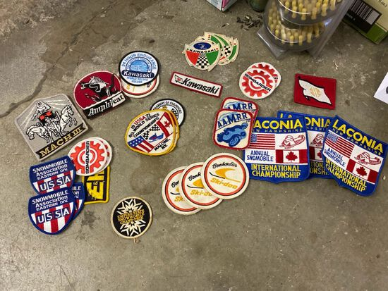 Lot of Vintage Snow Mobile Patches -- See Photos