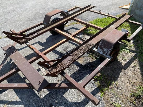 1986 Cross Country - Twin Motorcycle Trailer - Poor Condition