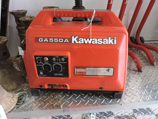 KAWASAKI Generator - GA550A - Gasoline -- with Cover - Looks NEW
