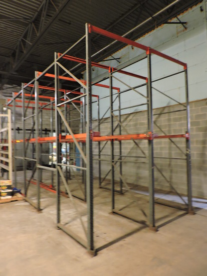 Two Sections of Six Deep PALLET RACKING