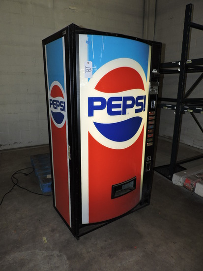 PEPSI Branded Retail Soda Machine - Appears Fully Functional