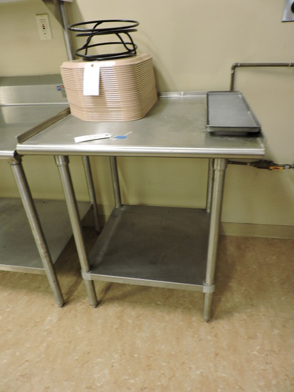 """Small Stainless Steel PREP TABLE - 31"""" Wide X 30"""" Deep X 36.5"""" Tall"""