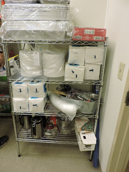 """4-Level Wire Rack - Adjustable - 36"""" Wide X 14"""" Deep X 54.5"""" Tall"""