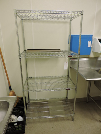 """EAGLE Brand 4-Level Wire Rack / 36"""" Wide X 22"""" Deep X 75"""" Tall"""
