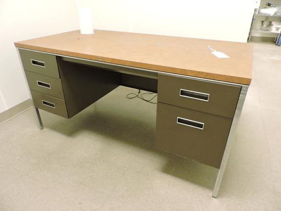 Older Steel Desk with Formica Top - Rock Solid