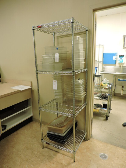 """EAGLE Brand 4-Level Wire Rack / 24"""" Wide X 22"""" Deep X 75"""" Tall"""