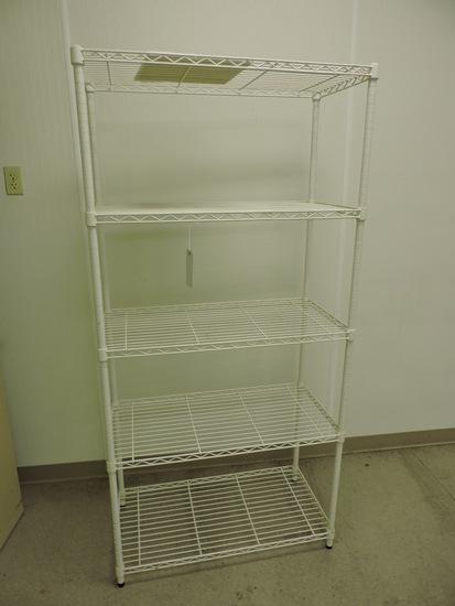 "5-Shelf Wire Rack Unit / Apprx 36"" Wide X 18"" Deep X 74"" Tall"