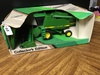 John Deere 9600 Combine Collector Edition, 1/28 scale, grain & cornhead, NIB, box has some wear, S