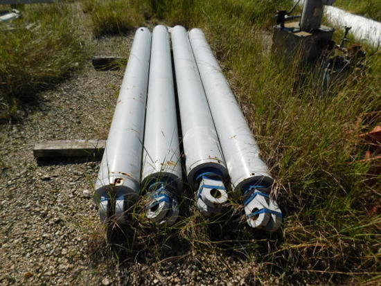 (4) LARGE CYLINDERS/ 1  SMALL
