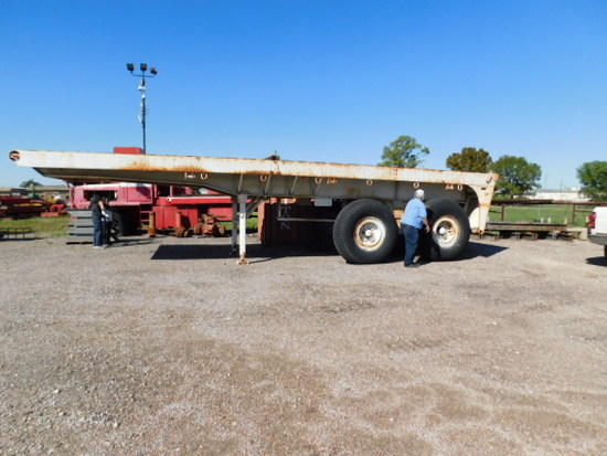 OFF ROAD FLATBED TRAILER w/ ROLLING TAILBOARD