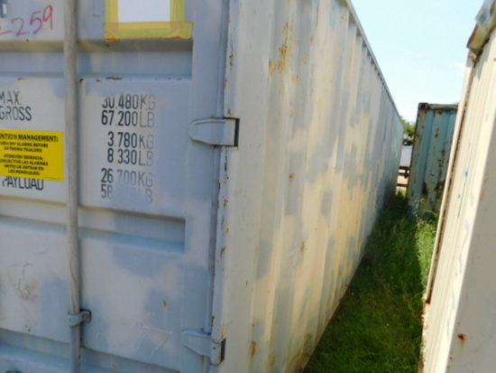 **NOT SOLD**40 FT  GREY CONNEX  SHIPPING CONTAINER
