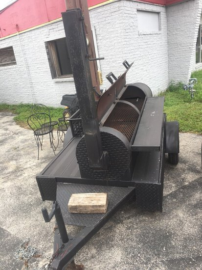 *NOT SOLD*BBQ PIT ON WHEELS